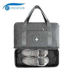 Hylhexyr водонепроницаемая сумка для обуви Оксфорд моющиеся сумки молния путешествия вещевой мешок одежды с разделителем для сухого и