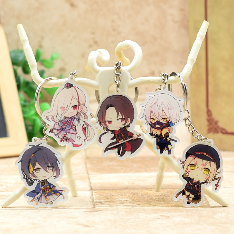 Touken Ranbu Online acrylic Keychain  Action Figure Pendant Car Key  Accessories 8 Styles Cute Anime Collection DJLW001 LTX1 attack on titan shingeki no kyojin acrylic keychain action figure pendant car key accessories key ring jjjr006 ltx1