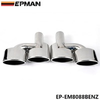 5.0cm 304 Stainless Steel Exhaust Muffler Tip For BENZ C Class AMG W204 EP EM8088BENZ