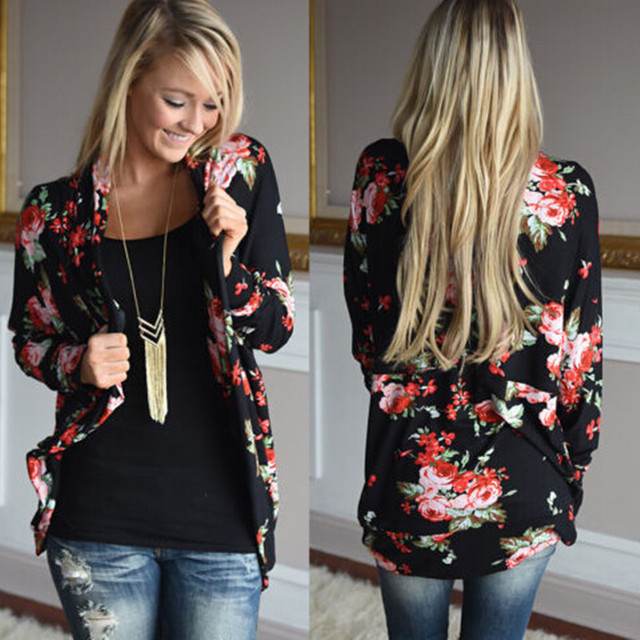 Vest Chalecos Mujer Offer Sale Cotton Polyester Streetwear Women Winter 2016 New Explosion Rose Stamp Sleeved Cardigan Jacket