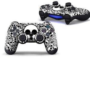 Image 5 - Crânio azul capa protetora adesivo para ps4 controlador de vinil pele para playstation4 joypad decalque para sony ps4 gamepad acessórios