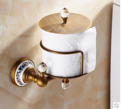 Creative Design Toilet Paper Holder Antique Brass Tissue Roll Bracket design thinking paper