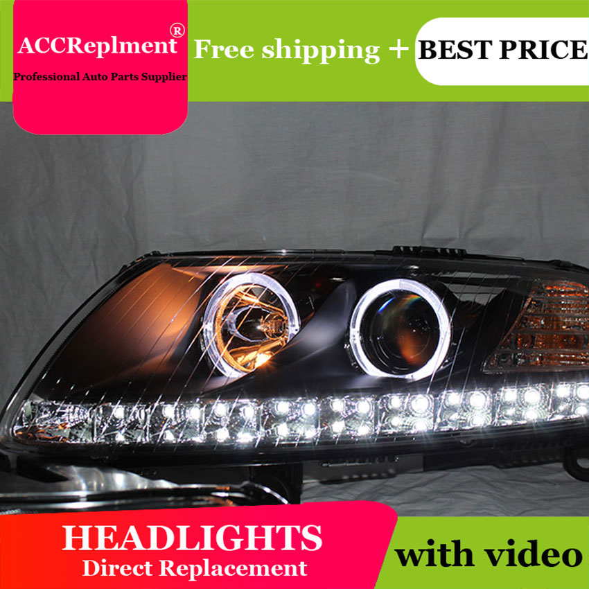 Car Styling for Audi A6 C5 Headlights 2005-2012 A6 LED Headlight DRL Lens Double Beam H7 HID Xenon bi xenon lens стоимость