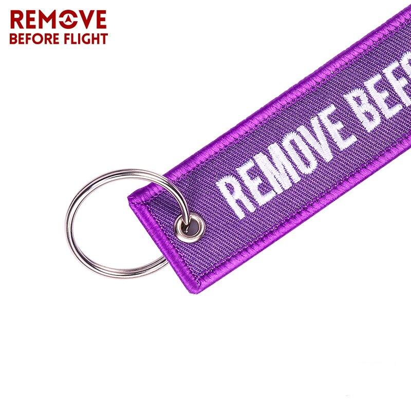 100 PCS/LOT Großhandel Keychain für Fahrzeuge Angepasst Schlüssel Ketten Lila Stickerei Schlüsselanhänger ENTFERNEN VOR FLUG Mode Schlüssel kette-in Schlüsselanhänger aus Schmuck und Accessoires bei  Gruppe 2