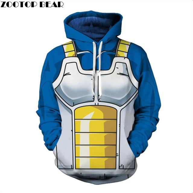 Dragon Ball 3D Vegeta Uniform Hoodies