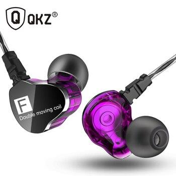Натуральная QKZ CK9 наушники двойной драйвер с микрофоном gaming headset mp3 DJ поле audifonos fone де ouvido сем auriculares
