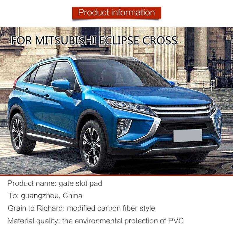 Image 3 - FIT FOR Mitsubishi Eclipse Cross 2017 2018 2019 Interior Door Car Storage Box Pad Car Water Mats Mats Car Door Gap Pad Mat