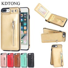 KDTONG Cases sFor iPhone X XS Max XR Case Fashion Leather Zipper Cover For 6 6s 7 8 Plus Holder Wallet Card