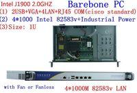 1U j1900 Quad core маршрутизатор брандмауэра pfsense сетевой безопасности 4*1000 м ethernet сетевой сервер устройства barebone pc межсетевого экрана маршрутизато