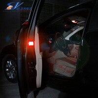 New Anti-collision LED COB Light Auto Anti-fog Parking Stop Braking car door strobe interior warning light red amber color