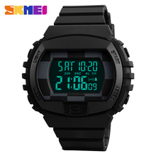 SKMEI Brand Men Sports Watches Chronograph Countdown Double Time Digital Wristwatch 50M Waterproof male clock Relogio Masculino