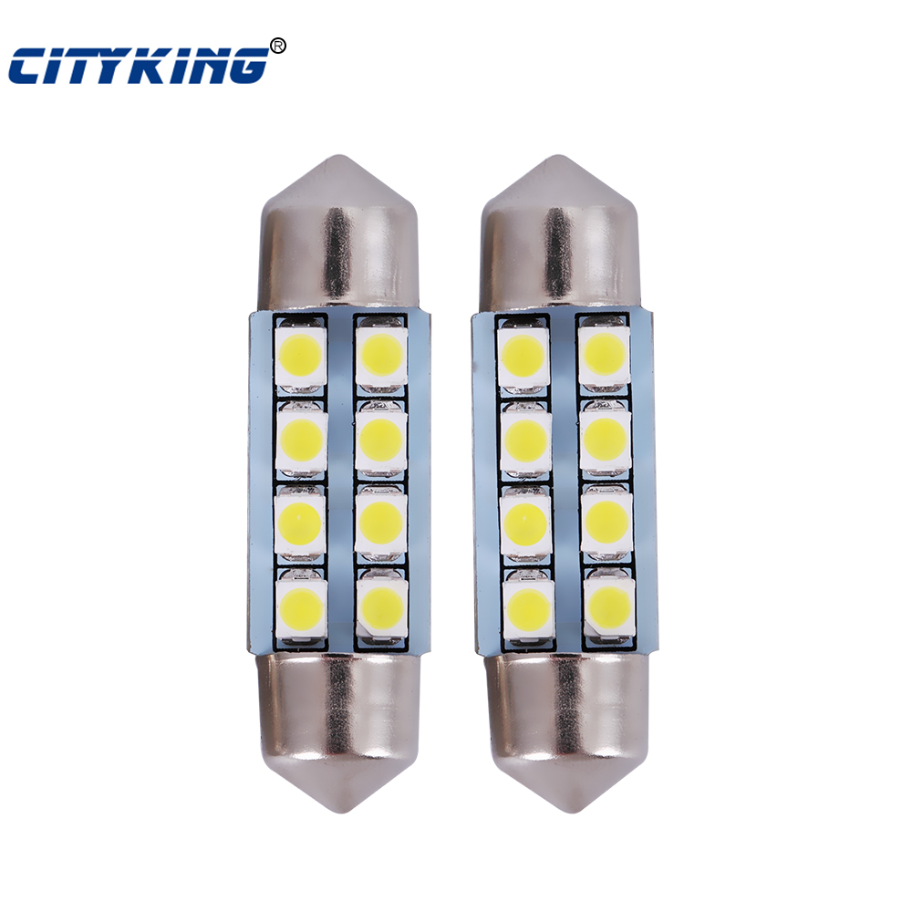 100pcs Festoon led 8SMD 31mm/36mm /39mm / 42mm LED 1210 3528  Car Auto Interior dome light 8LED SMD Light White led Dome Lamp 2pcs 12v 31mm 36mm 39mm 41mm canbus led auto festoon light error free interior doom lamp car styling for volvo bmw audi benz