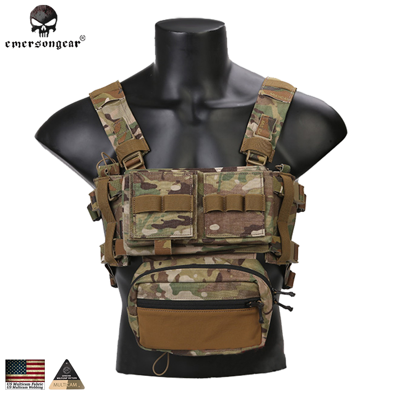 Emerson MK3 Modular Lightweight Chest Rig Micro Fight Chassis Tactical Vest w/ 5.56 Mag Pouch 2961