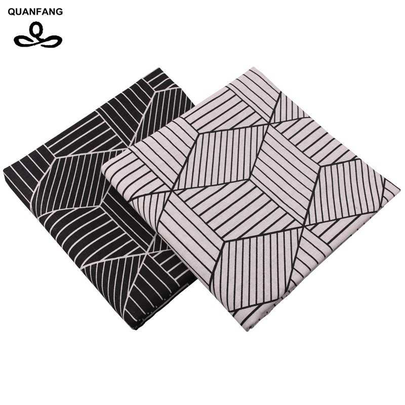 QUANFANG Geometrie serie Gedruckt Baumwolle Leinen Stoff Für Patchwork Quilten Nähen DIY Sofa Tisch Tuch Möbel Halben meter