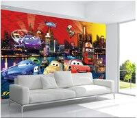 Custom papel DE parede infantil large murals cartoon car for children room TV setting wall vinyl which papel DE parede