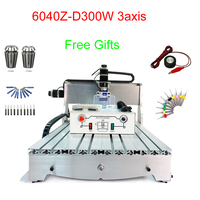CNC Mini milling machine 6040Z D300 3axis cnc engraving machine 300W mini cnc drilling machine