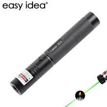 NEW Military Green Laser Pointer 532nm 5mW 303 Laser Pointer Pen Powerful Burning Match Adjustable Focal Length With Starry Head