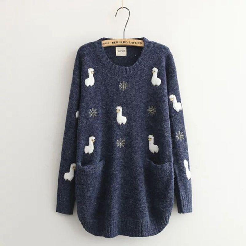 Cute Alpaca Women's Pullover 1
