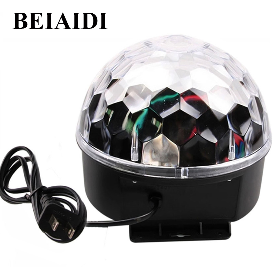 BEIAIDI 18W Voice Control Big Magic Ball Stage Effect Light Sound Activated Disco DJ Party Home Stage Lighting EU/US Plug