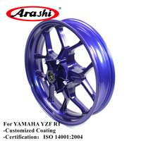 Arashi YZF R1 2015 2017 Front Wheel Rim For YAMAHA R 1 2015 2016 2017 15 16 17 Motorcycle Aluminum Alloy Front Rims Black Blue