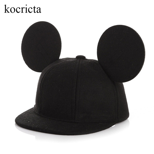 baseball cap ears toddler children boys girls baby caps infant kids autumn winter hats with cute hat mickey mouse