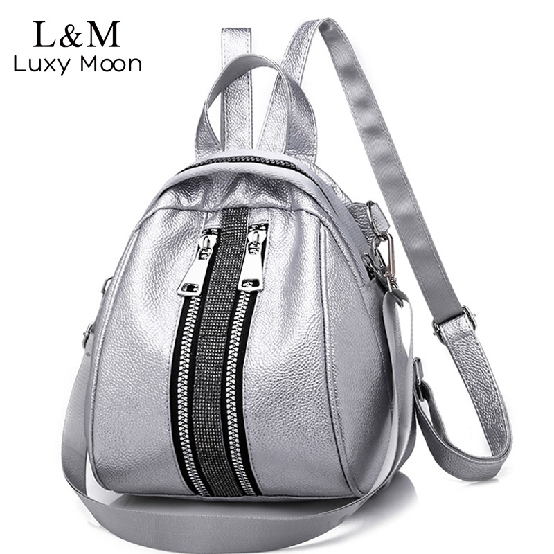 Women Backpack High Quality PU Leather Backpacks For Teenage Girls Female School Shoulder Bag Bagpack Shell Type Mochila XA504H