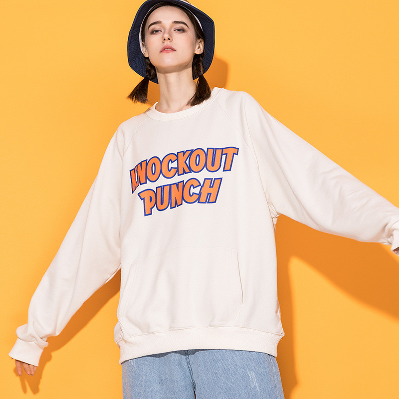 Sweat-shirt à col rond imprimé esthétique japonais Harajuku pour femme fille urbaine Streetwear Hip Hop sweats graphiques surdimensionnés