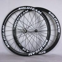 soloteam wheels 38mm Clincher carbon wheels 700C road bike full carbon wheelset width 23mm 25mm bicycle wheels
