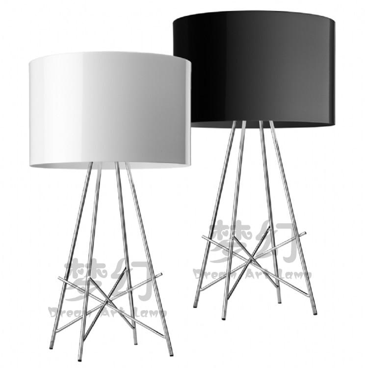 Спальня настольная lampslamps NewAmerican Творческий Алюминиевый четыре вилка лампа современный минималистский исследование личности гостиная ZCL