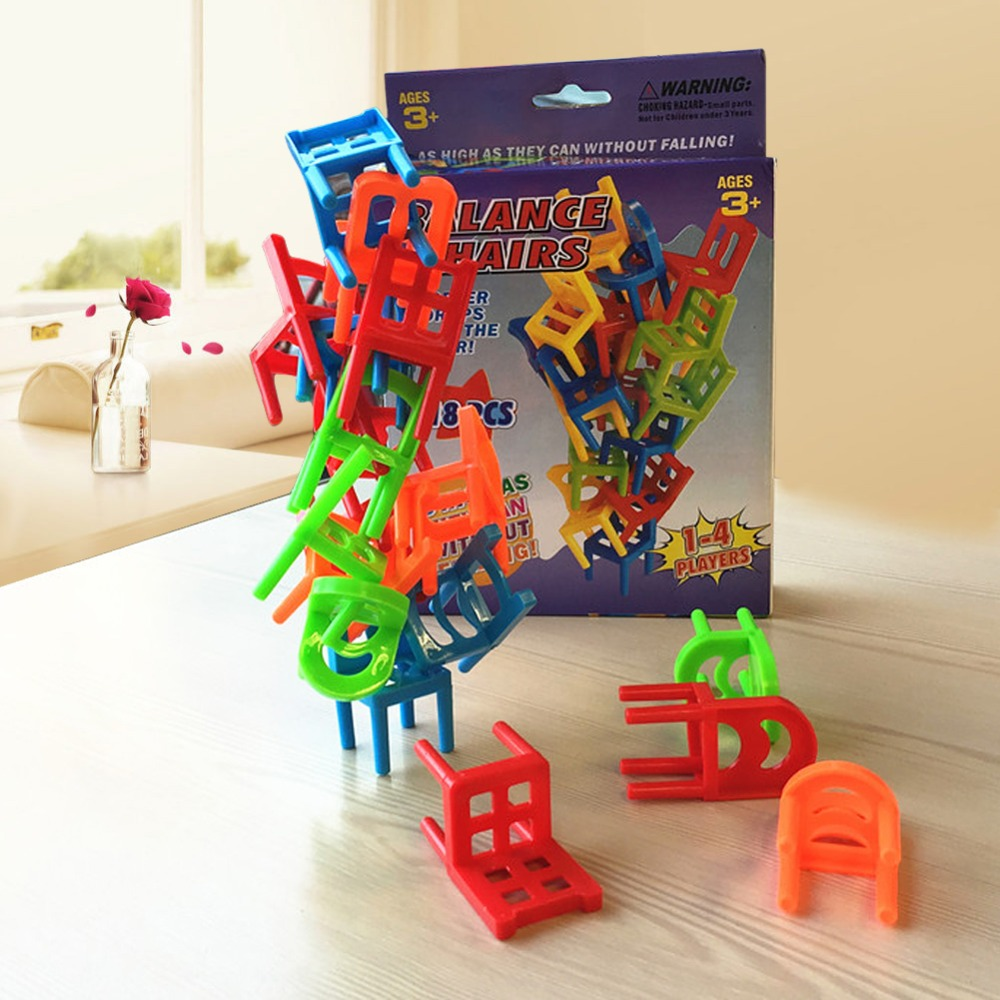 Kids stacking chairs - Aliexpress Com Buy 18pcs Lot Chair Shape Blocks Plastic Balance Toy Stacking Chairs For Kids Desk Educational Play Game Balancing Traning Toys From