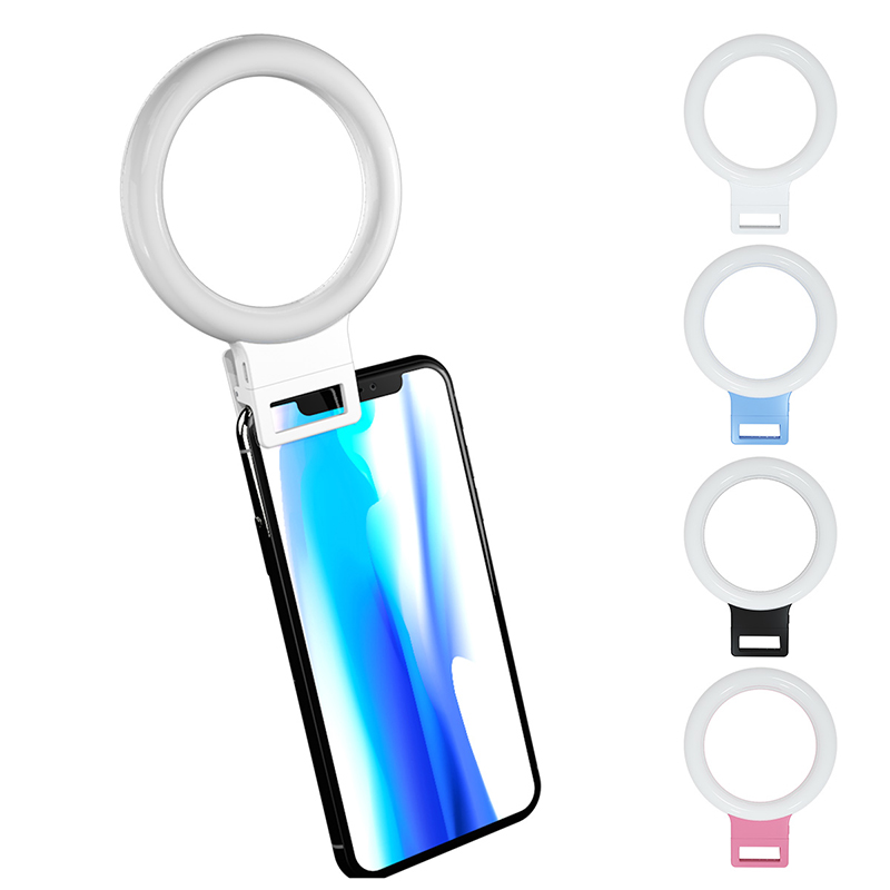 USB Charge LED Selfie Night Light for iPhone X 8 7 Xs Phone And Samsung 1