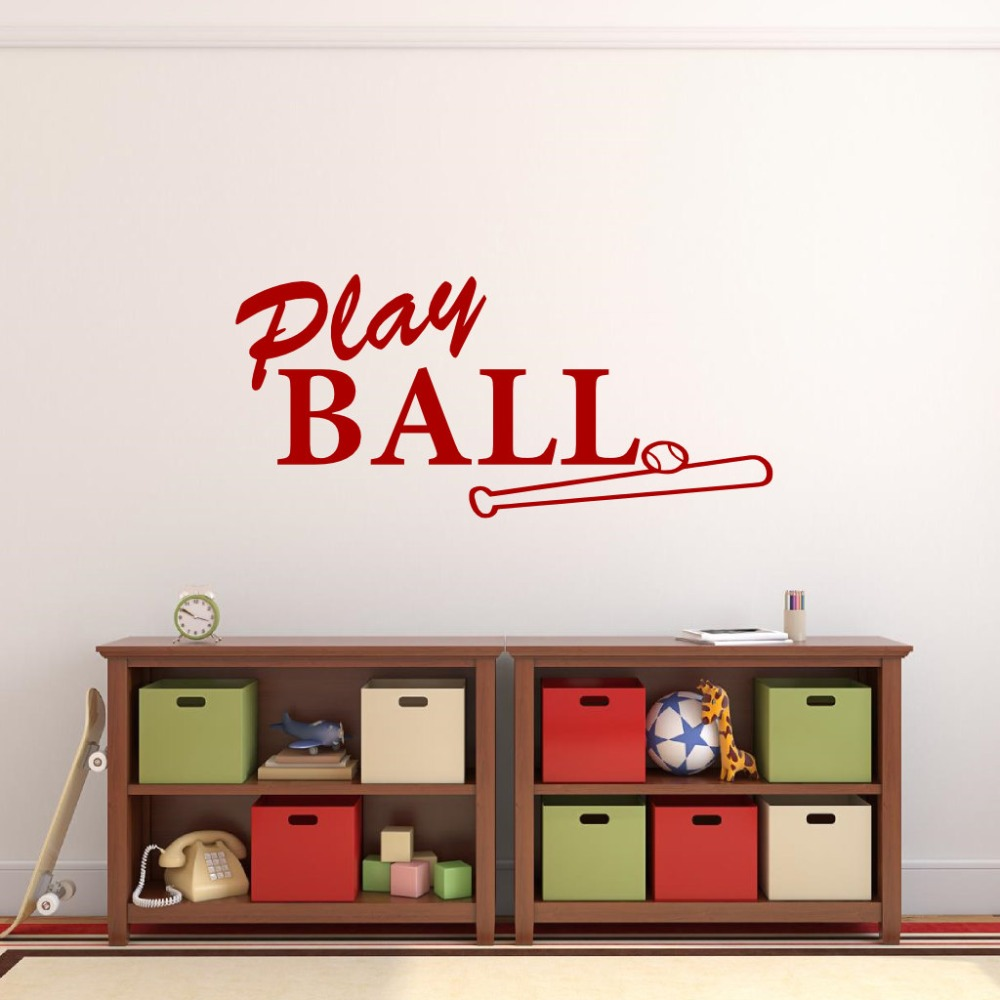 Play Baseball Sports Wall Decals For Kids Room Bedroom ...
