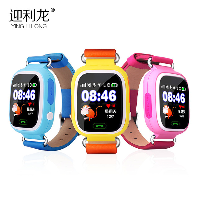 2016 Color touch screen Q90 Q80 Q50 Smart Watch SOS Call Location Finder Locator Device Tracker GPS Kid Safe Anti Lost Monitor