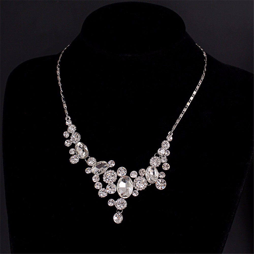 9-Exquisite Statement Bridal Necklaces Women White Gold 585 Plated CZ Diamond Jewelry Vintage Collier Femme Colar Collares ND003