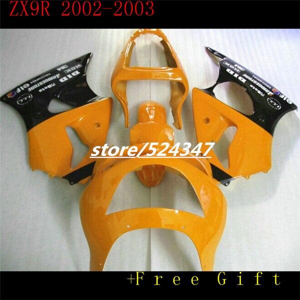 Для KAWASAKI 02 03 NINJA ZX9R 02 03 F1863 ZX 9R желтый 02 03 корпус ZX 9R 9 R ZX9 R 2002 2003 обтекатель