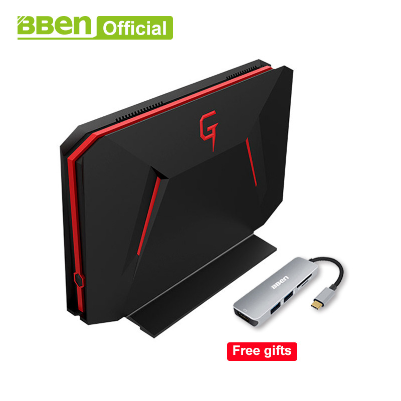 Bben Mini Ordinateur GB01 Win10 6g GDDR5 Carte Graphique GTX1060 intel i7 7700HQ 8g/16g/ 32g RAM, 128g/256g SSD, 1 tb/2 tb HDD option