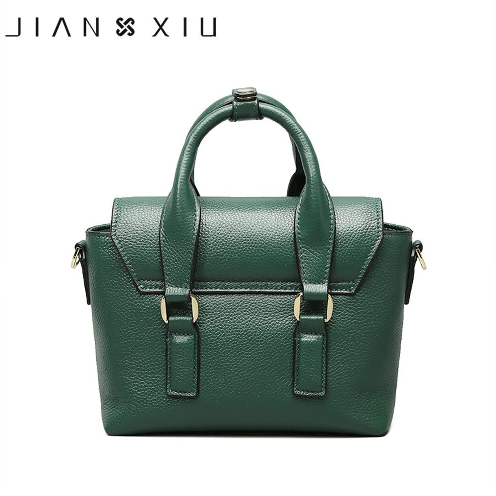 JIANXIU العلامة التجارية الأزياء جلد طبيعي أكياس Sac حقائب حقائب موهير Bolsas الأنثوية 2018 الكتف Crossbody حقيبة 2 الألوان-في حقائب الكتف من حقائب وأمتعة على  مجموعة 3
