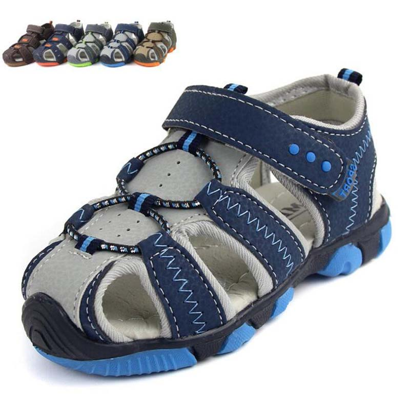 Children Shoes PU leather boys sandals casual kids beach sandals baby girls sandals baotou fashion boys sport sandals size 23-34
