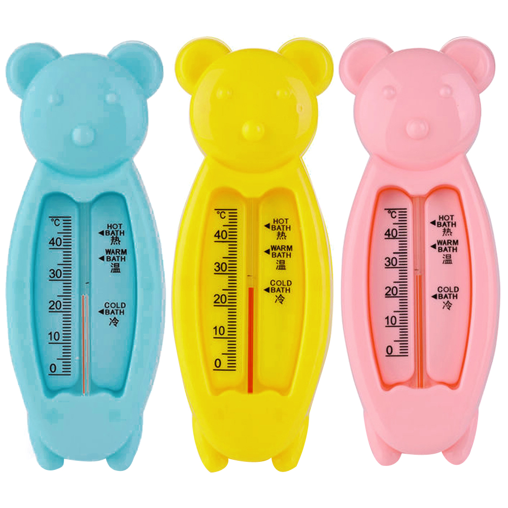Lovely Bear Baby Water Thermometer Cartoon Floating Kids Bath Thermometer Toy Plastic Tub Water Sensor Thermometer For Baby Care