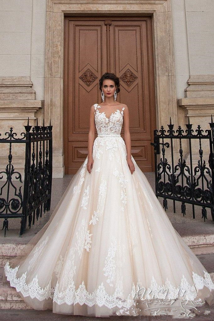 Vintage Arabic Princess Milla Nova Wedding Dresses Lace Turkey Women Country Western Bridal Gowns 2019 Pearls Sash Tulle