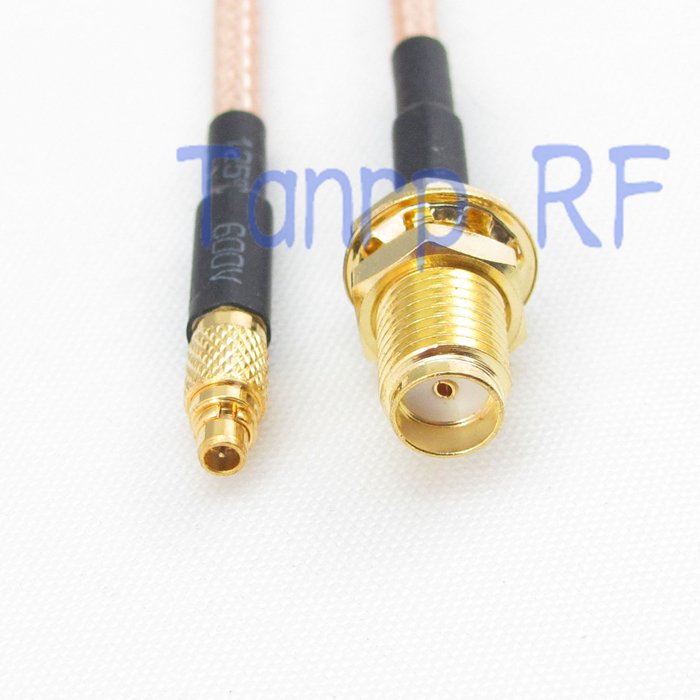 50CM Pigtail coaxial jumper cable RG316 extension cord 20in MMCX male to SMA female jack RF adapter connector