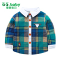 Plaid Shirts Boys Formal Girls Shirt Turn-Down Collar Toddler Blouses Long Sleeve Red Baby Shirt For Kids Clothes Boys Blouse