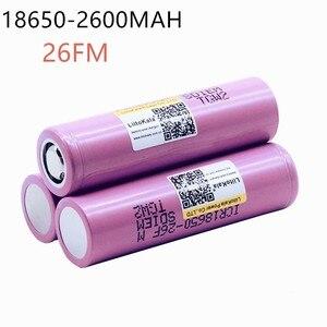 Image 3 - Liitokala ICR1865026FM Новый оригинальный 100% для 18650 2600 мАч литий ионный аккумулятор 3,7 в перезаряжаемая батарея