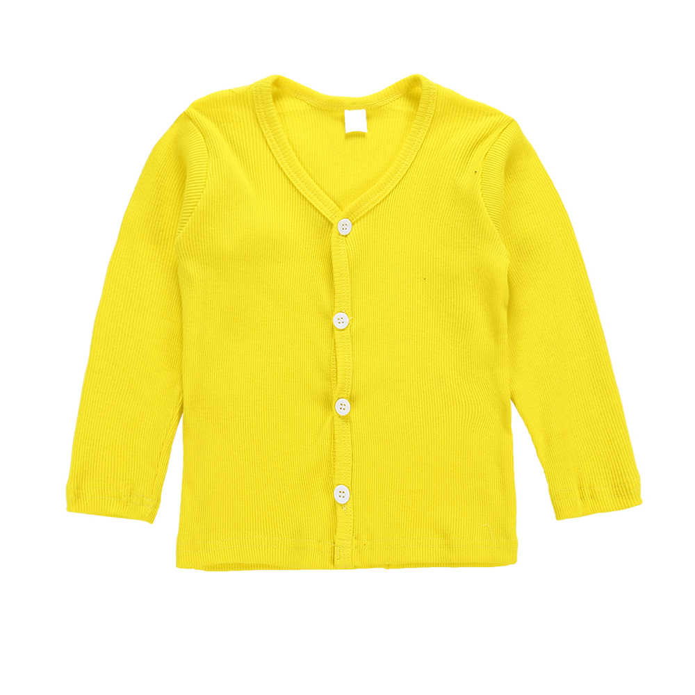 מקרית ילדים תינוק ילד ילדה סרוג סוודר קרדיגן מעיל ארוך שרוול חולצות להאריך ימים יותר