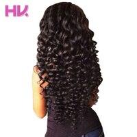 Hair Villa Remy Brazilian Deep Wave Bundles With Closure 3 Bundles Human Hair Weave 4 4