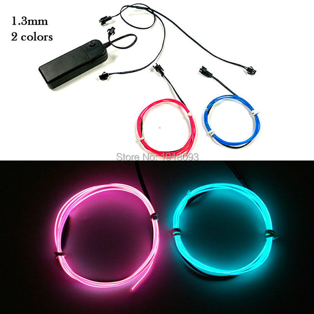 Cheap high quality 1m 2pieces dc 3v el wire rope string lights long high quality 1m 2pieces dc 3v el wire rope string lights long lifetime mozeypictures Images