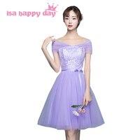 Szata de mariage krótki tiers tulle dress lilac bez ramiączek suknie druhna w 50 elegancki strona formalna suknia balowa dziewczyna H4025