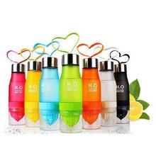 650 ml mi botella h20 plástico botella de infusión de frutas infuser lemon jugo de bebida deportes al aire libre bici portable de la botella de agua de viaje