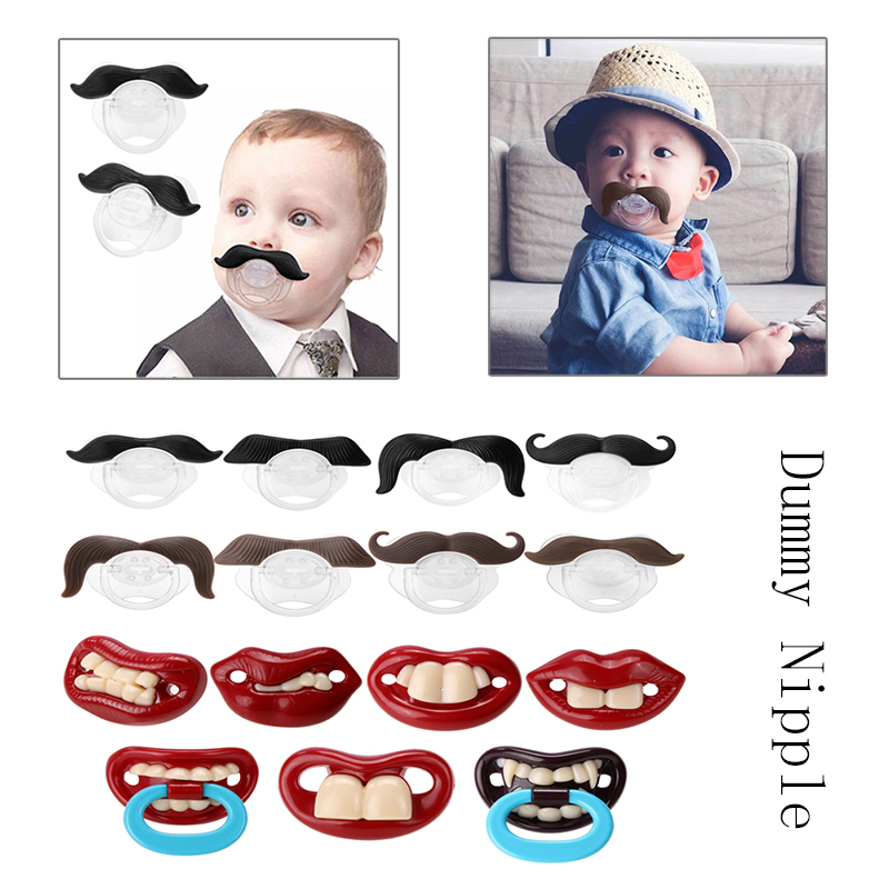 Dummy Nipple Baby Pacifier Christmas-Gift Funny Silicone Orthodontic Toddler Pacy
