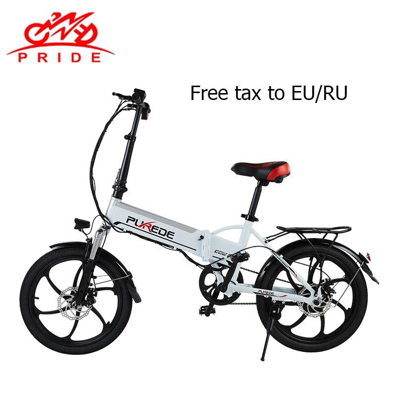 20 pouces vélo électrique 48V12. 5A batterie au Lithium en aluminium pliant vélo électrique 350 W puissant moteur neige/montagne e vélo ville